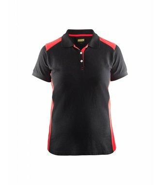 Poloshirt Dames : Zwart/Rood - 339010509956