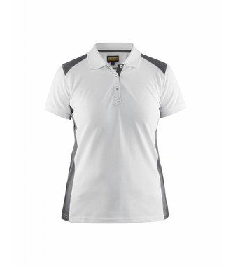 Poloshirt Dames : Wit/Grijs - 339010501094