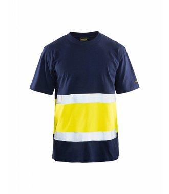 T-shirt Haute Visibilité Classe 1 : Marine/Jaune - 338710308833