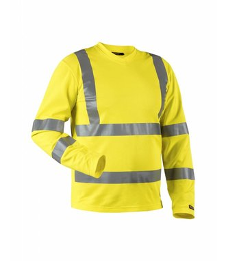 High visibility long-sleeved t-shirt Yellow