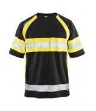 T-shirt Haute-Visibilité Cl 1 : Noir/Jaune - 333710519933