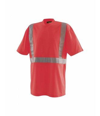 High vis T-Shirt Kl. 2 : High Vis Rot - 331310095500