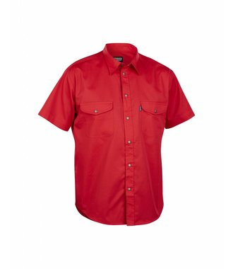 Chemise Manches Courtes : Rouge - 324011905600