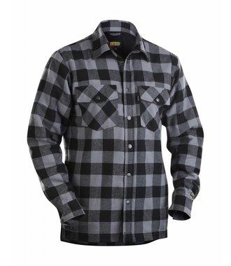 Overhemd Flanel, Gevoerd : Donkergrijs/Zwart - 322511319799