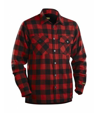 Overhemd Flanel, Gevoerd : Rood/Zwart - 322511315699
