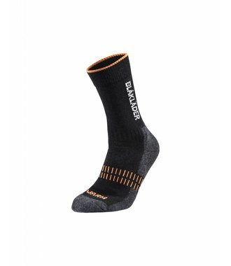 Functional sock WARM : Black / NEON Orange - 219210959966