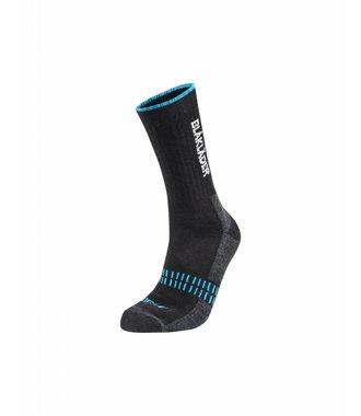 Functional sock LIGHT : Black / NEON Blue - 219110949968