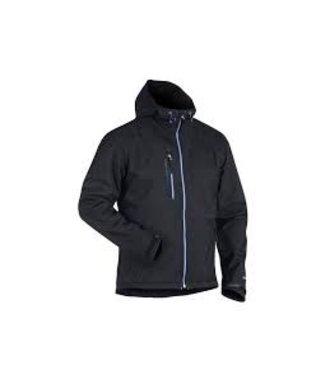 Veste Softshell à capuche : Black/Cornflower blue - 494925179985