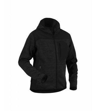 Knitted jacket Dark grey/Black