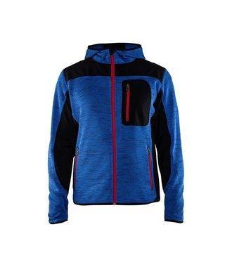 Veste Tricotée : Bleu roi/Noir - 493021178599