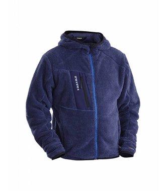 Zachte Pile Jacket Navy blue/Cornflower blue