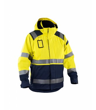 Hi-vis shell jacket : Gelb/Marineblau - 498719873389
