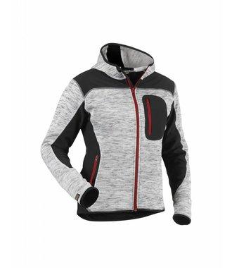 Strick Damen-Softshell-Jacke : Grau melange/Schwarz - 493121179099