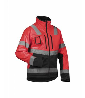 High Vis Softshelljacke Kl. 2 : High Vis Rot/Schwarz - 490025175599