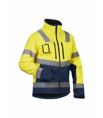 High Vis Softshelljacke Kl. 2 : Gelb/Marineblau - 490025173389