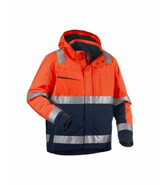 Winter jacket High Vis Orange/Navy blue