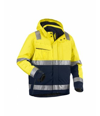 Winter jacket High Vis Yellow/navy blue
