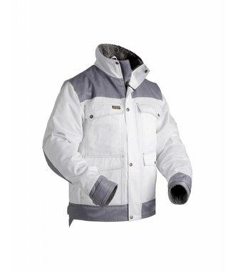 Veste peintre hiver : Blanc/Gris - 486519001094