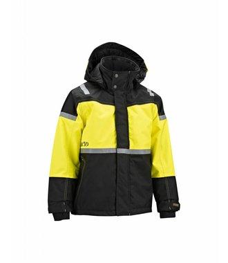 Childrens Winter Jacket Black/Yellow