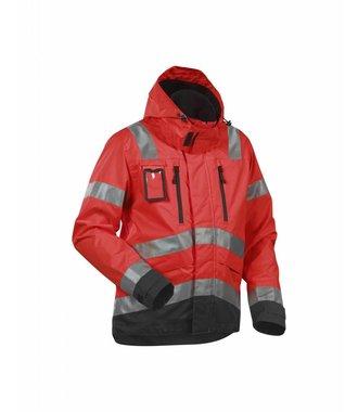 High Vis, Waterproof Jacket Red/black