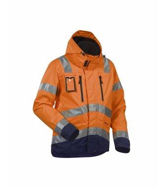 High Vis, Waterproof Jacket Orange/Navy blue