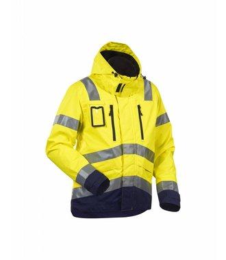 High Vis, Waterproof Jacket Yellow/navy blue
