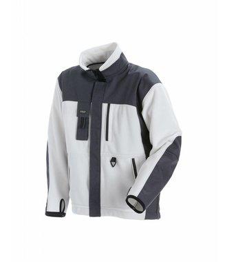 Veste fonctionnelle en polaire : Blanc/Gris - 483525201094