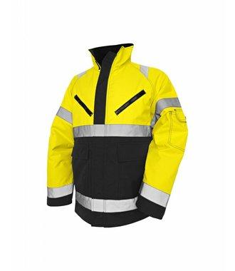 High Vis Winter Jacket, PU Yellow/Black