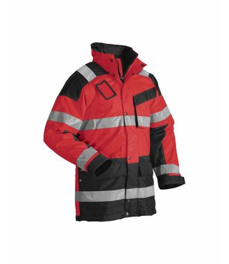 High Vis Winterparka Kl.3  : High Vis Rot/Schwarz - 442619975599