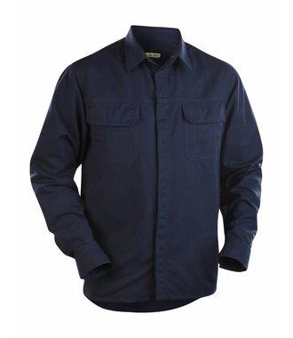 Overhemd vlamvertragend : Marineblauw - 322715158900