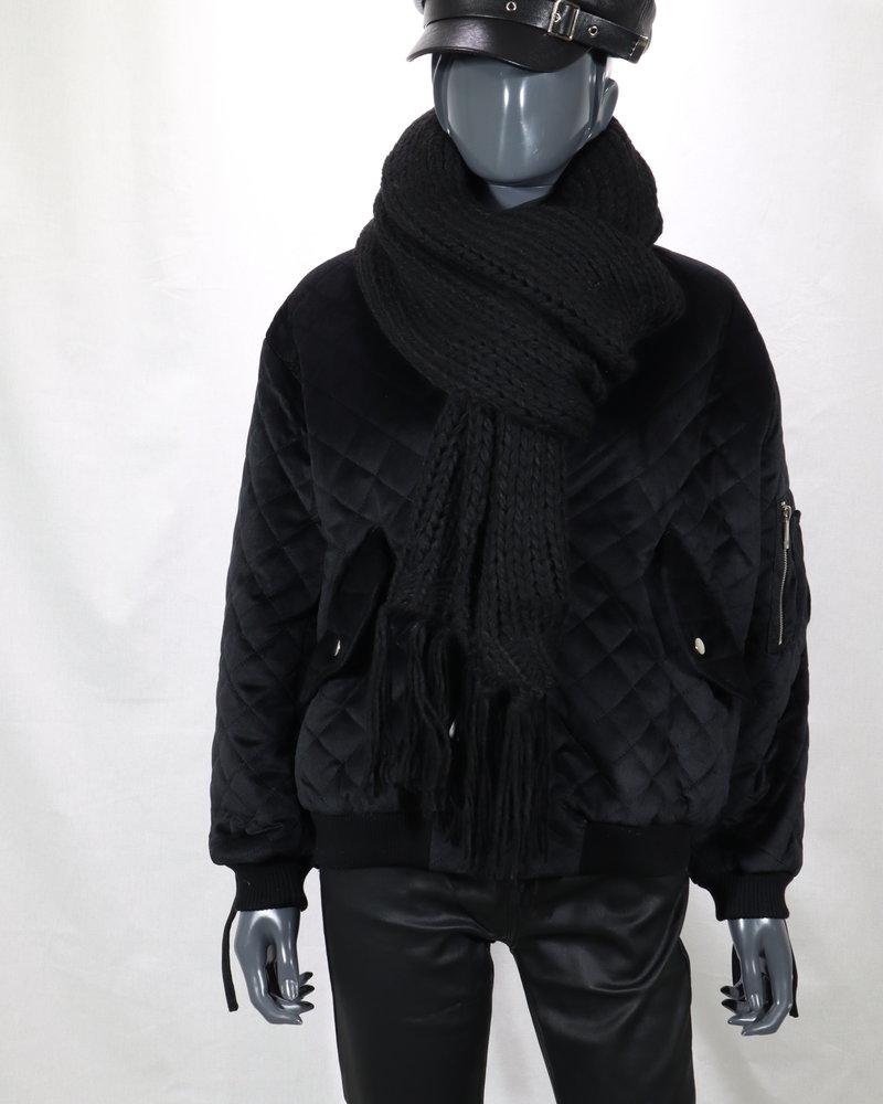 Sjaal grof zwart