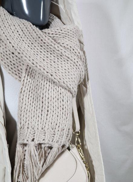 Sjaal grof beige
