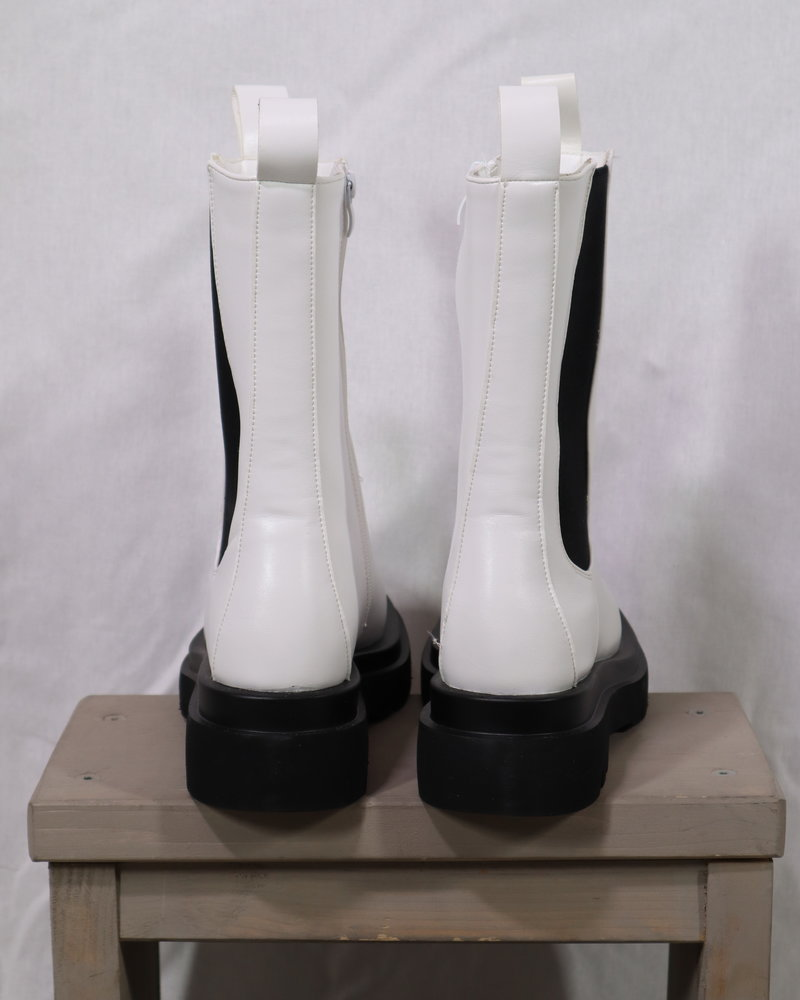 Leatherlook boots wit