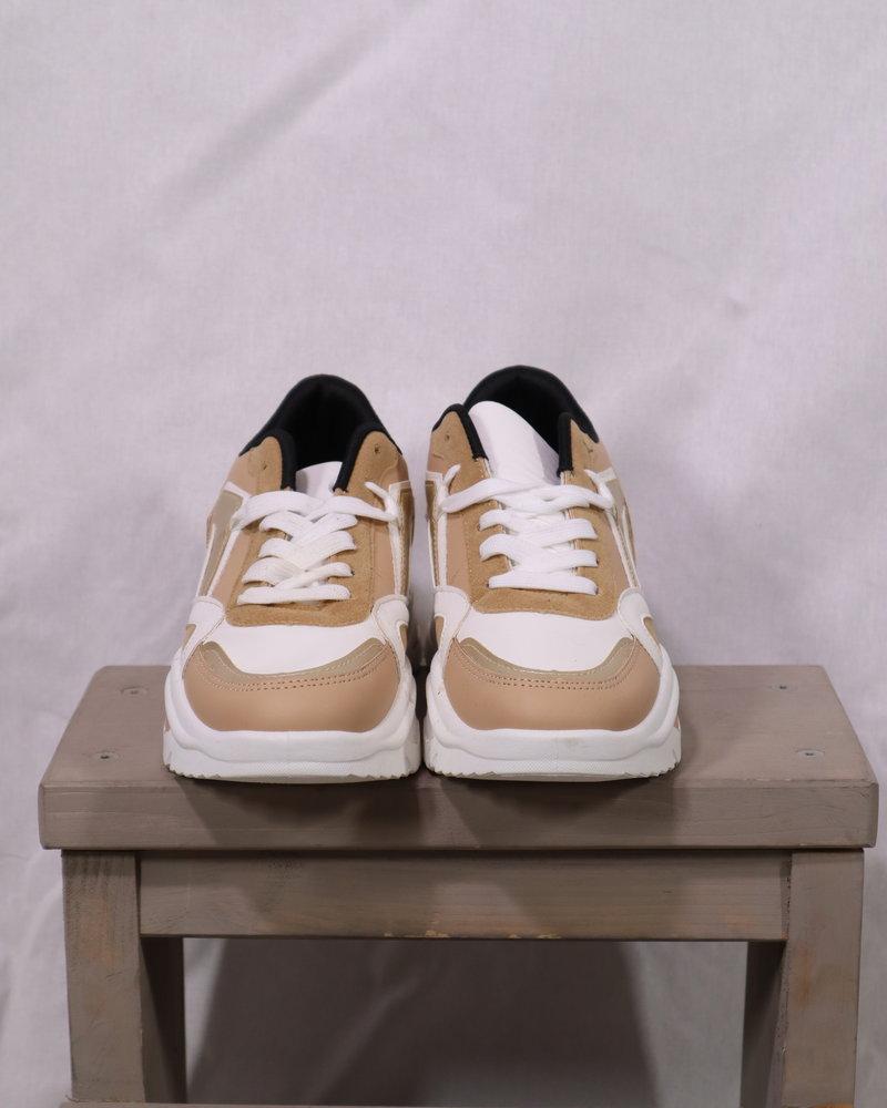 Sneaker camel/goud