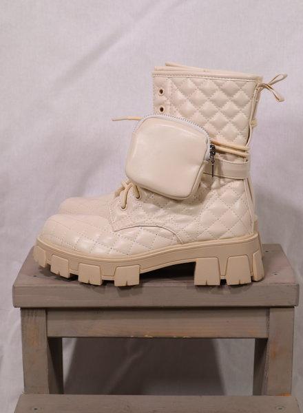 Boots beige/leatherlook