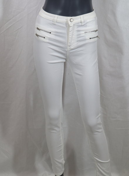 Coated jeans wit
