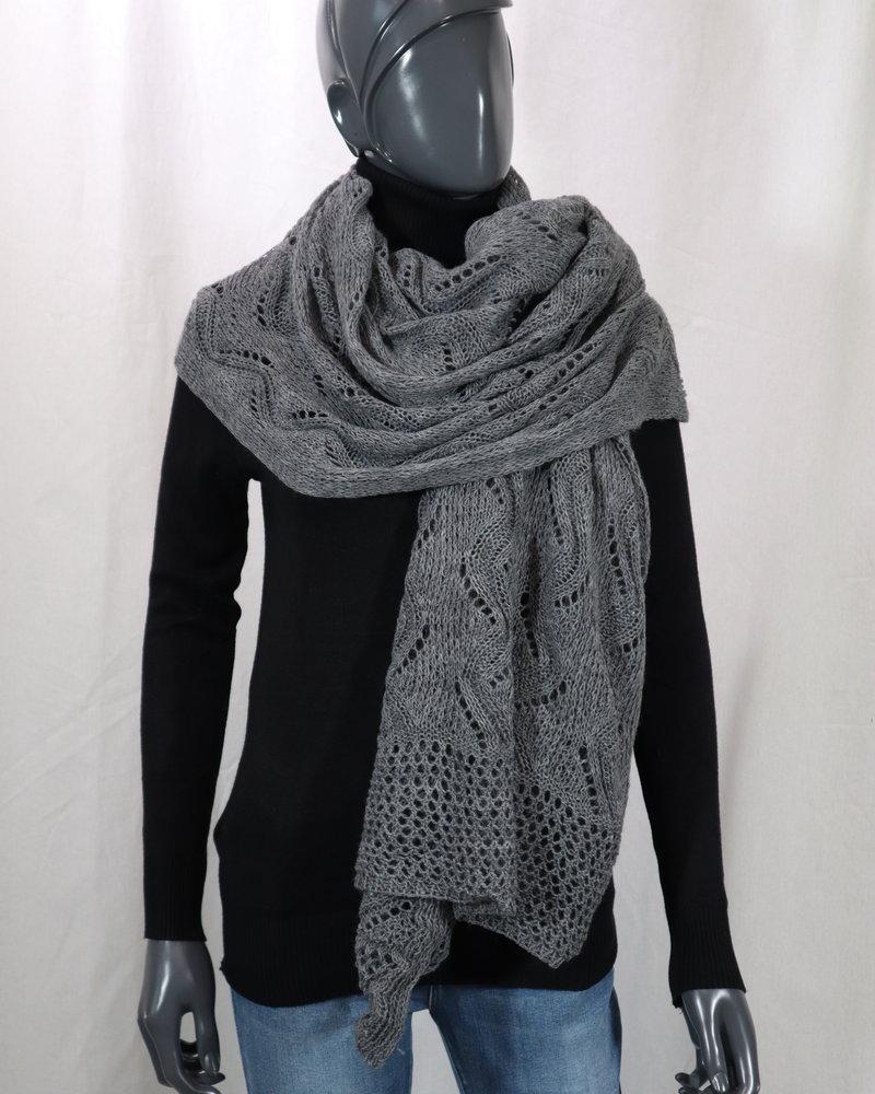 Sjaal gehaakt grijs