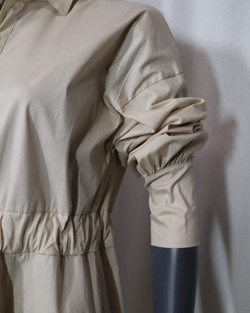 Maxi jurk beige