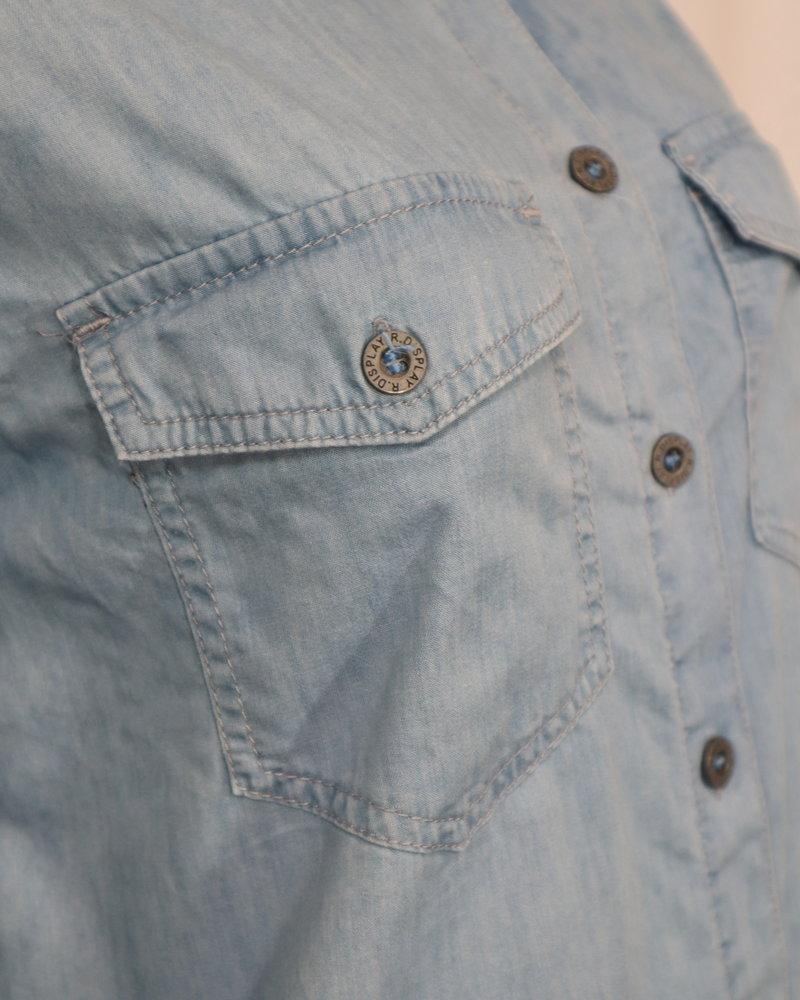 Denim blouse lblauw