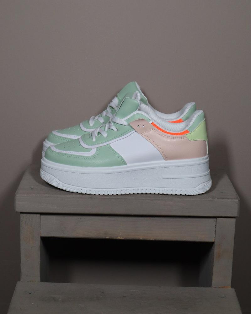 Sneaker wit/mint