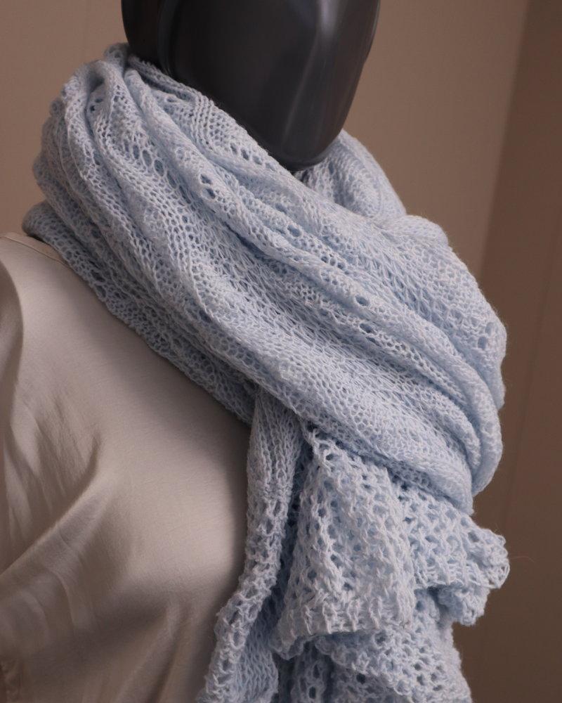 Sjaal gehaakt licht blauw