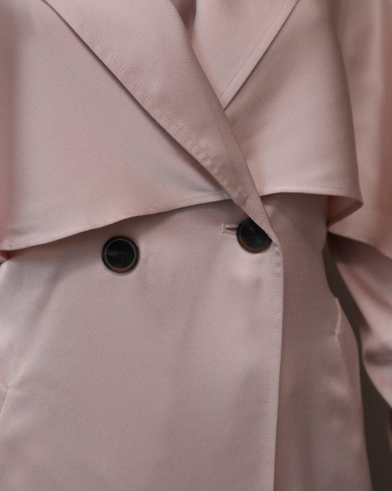 Tussenjas Trenchcoat roze