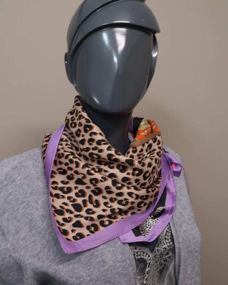 Sjaal panter paars