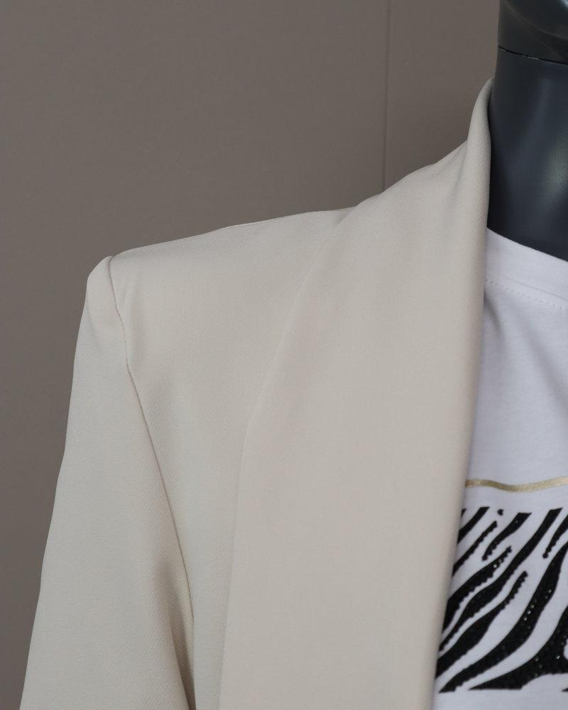 Lange blazer beige