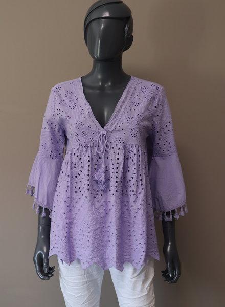 """Ibiza blouse """"Punta des Pinot"""" paars"""