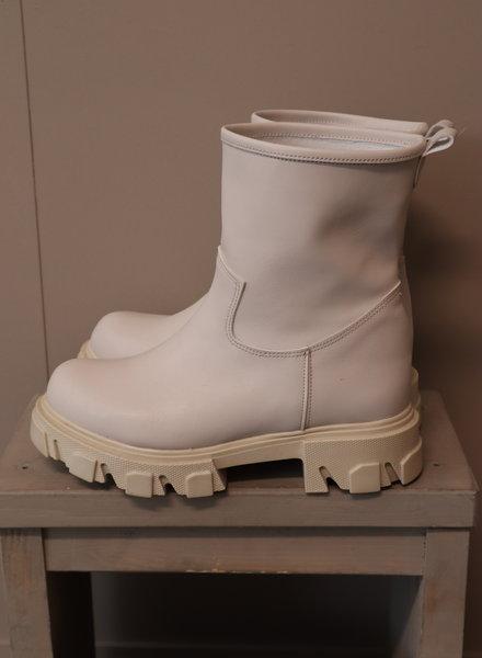 Enkel boots beige
