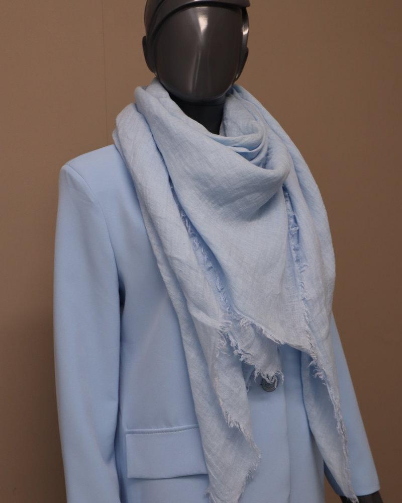Sjaal linnen lichtblauw