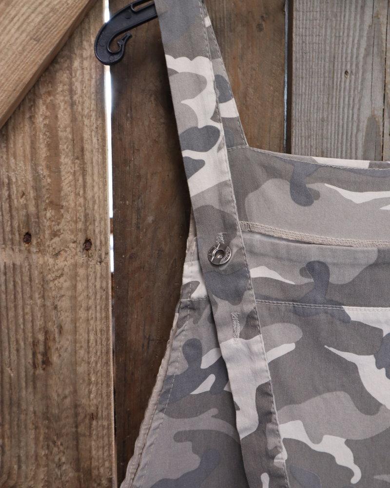 Tuinbroek camouflage PLUS