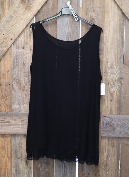 Basic hemd kant zwart PLUS