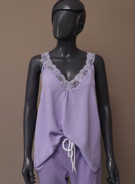 Basic hemd kant paars